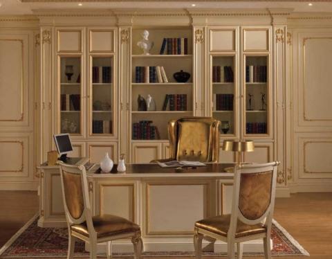 Домашняя библиотека мебель на заказ