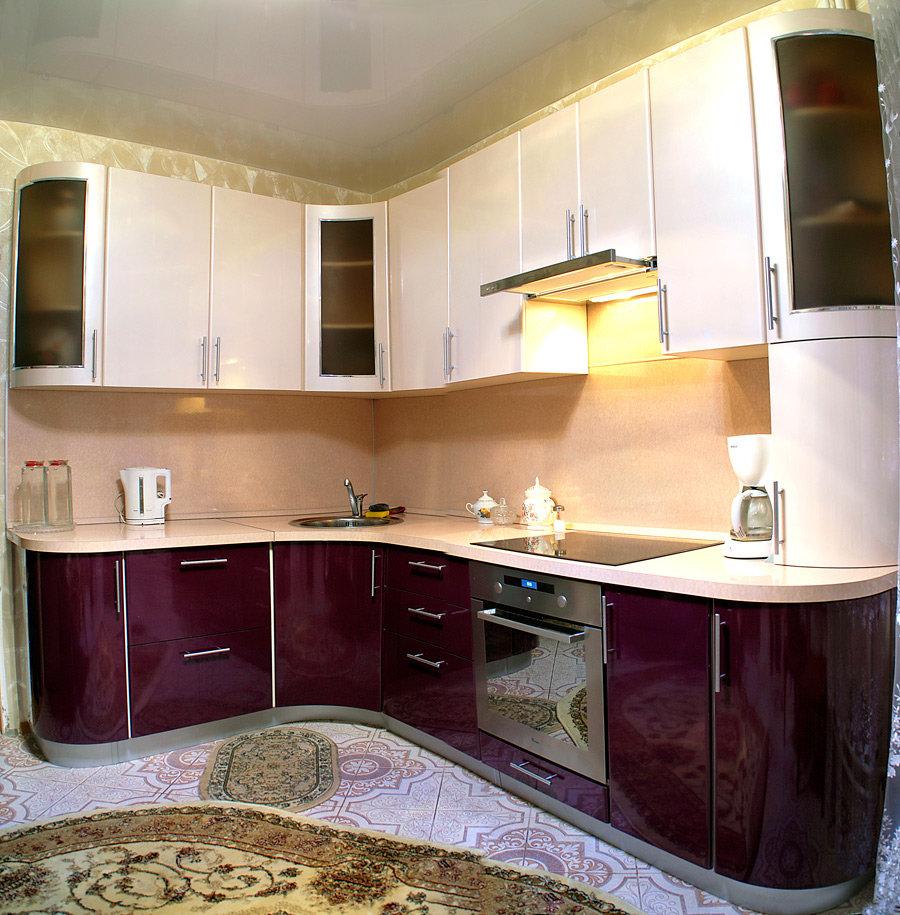 кухни из пластика фото в интерьере