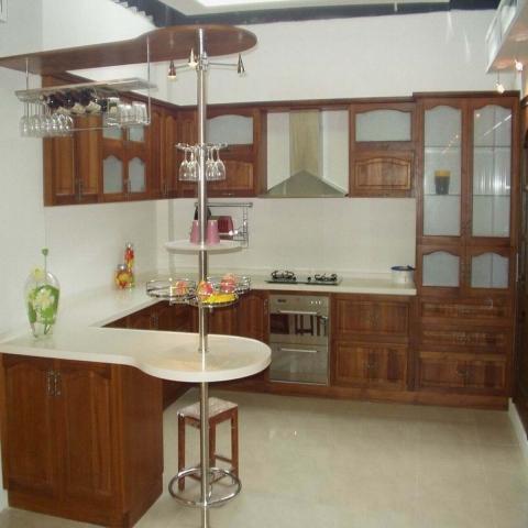 кухня из мдф с барной стойкой